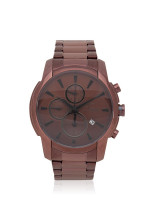 TEIWE Men TWC-18021 Gent Chronograph Stainless Brown