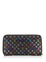 LOUIS VUITTON Monogram Multicolor Zippy Wallet Black