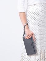 TUMI Parker Sling Travel Passport Wallet Mettalic Silver