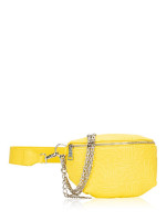 STEVE MADDEN Brandie Leather Belt Bag Yellow