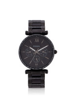 FOSSIL ES4543 Carlie Multifunction Stainless Steel Watch Black