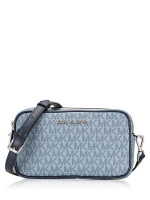 MICHAEL KORS Connie Monogram Small Camera Bag Pale Blue Navy