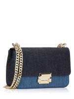 MICHAEL KORS Sloan Small Chain Shoulder Bag Denim Multi