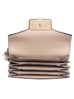 MICHAEL KORS Kinsley Leather Accordion Card Holder Bisque