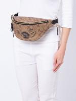 COACH 76663 Signature Chelsea Belt Bag Khaki Black Multi