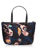 KATE SPADE Dawn Paper Rose Insulated Tote Black Multi