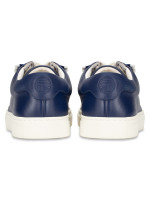 TORY SPORT Ruffle Leather Sneakers Navy Sea Sz 9.5