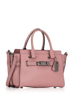 COACH 87295 Swagger 27 Pebble Leather Carryall Dusty Rose