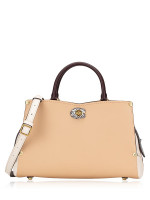 COACH 55599 Mason Carryall Colorblock Satchel Beechwood Chalk