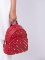 MICHAEL KORS Abbey Studded Leather Medium Backpack Scarlet