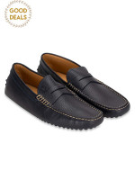 TOD'S Men Gommino Leather Loafer Navy Sz 6.5