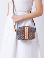 TORY BURCH Gemini Link Canvas Mini Bag Light Umber