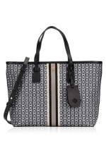 TORY BURCH Gemini Link Canvas Small Tote Black