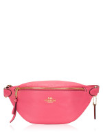 COACH 48738 Pebble Leather Belt Pink Ruby