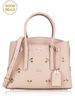 KATE SPADE Margaux Spade Stud Medium Satchel Pale Vellum