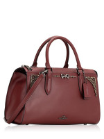 COACH 39289 Selena Bond Crystal Satchel Wine