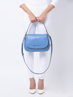 MICHAEL KORS Bedford Medium Leather Shoulder Bag French Blue
