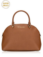 MICHAEL KORS Emmy Large Dome Zip Satchel Luggage