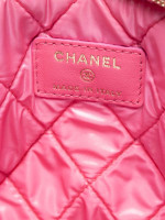 CHANEL Lambskin Large O Case Clutch Pink