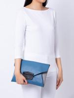 GIVENCHY Antigona Envelope Clutch Blue Grey