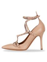 VALENTINO Vivo Ankle Strap Heels Poudre Sz 35