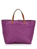 GUCCI Guccissima Nylon Tote Purple
