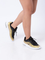 NIKE Air Max Axis Sneaker 011 Black Gold Sz 8