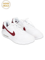 NIKE Air Max Oketo Sneaker White University Red Sz 9