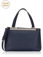 MICHAEL KORS Tilda Medium Leather Tote Navy