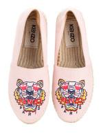 KENZO Tiger Canvas Espadrille Light Pink Sz 36