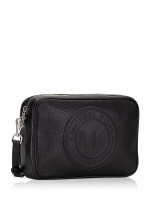 MICHAEL KORS Fulton Sport Logo Leather Large Crossbody Black