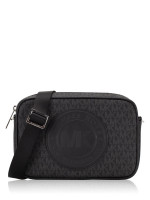 MICHAEL KORS Fulton Monogram Sport Logo Large Crossbody Black