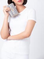 MIU MIU 5ML225 Matelasse Medium Wallet Silver