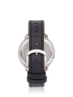 FENDI Runaway Leather Watch Black Silver