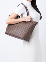 LOUIS VUITTON Damier Ebene Saleya MM