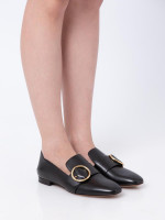 BALLY Lottie Leather Loafers Black Sz 38