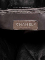 CHANEL Quilted Lambskin Door Latch Shopper Black