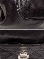 CHANEL Glazed Caviar Pocket In The City Tote Black