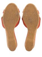 JIMMY CHOO Panna Leather Crisscross Slide Agate Sz 38.5