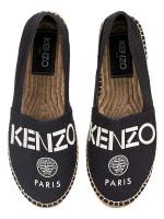 KENZO Uni Logo Espadrille Flats Black Sz 38