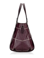 TOD'S G-Line Coated Canvas Sacca Piccola Dark Plum