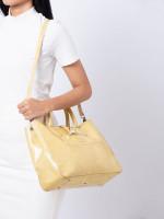 LONGCHAMP Roseau Patent Leather Tote Yellow