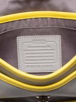 COACH 22406 Legacy Leather Penny Crossbody Grey Lemon