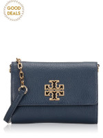 TORY BURCH Britten Leather Chain Wallet Hudson Bay