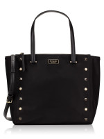KATE SPADE Dawn Studded Medium Satchel Black