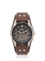 FOSSIL Men CH2891 Chronograph Leather Strap Brown