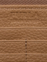 FURLA Olympia Leather Zip Wallet Cappuccino