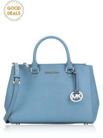 MICHAEL KORS Sutton Medium Satchel Pale Blue