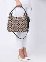 COACH 32651 Signature Bleecker Sullivan Hobo Beige Black