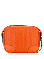 GUCCI Micro Guccissima Bree Crossbody Orange